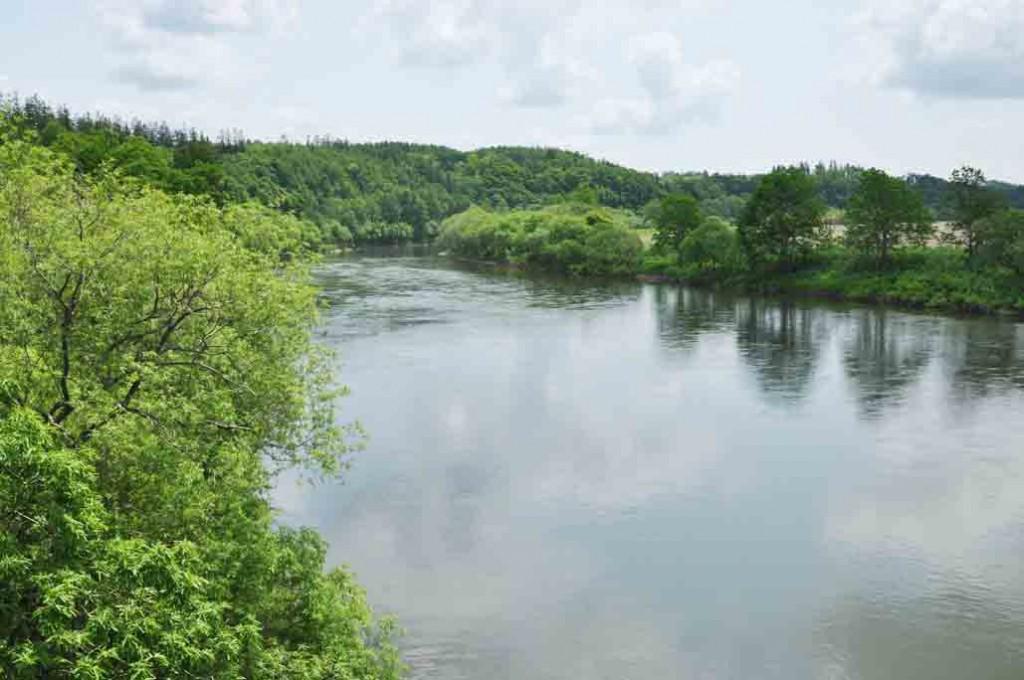 川幅が広く全長が256㎞もある天塩川。堰堤など遮るものがなく川下りできるコースが日本で最も長く、毎年国内最大のカヌーツーリングが行われる